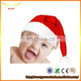 funny kids Christmas hats non woven santa hat plush santa hat