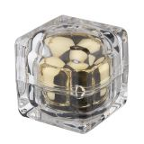 Square Crystal Cream Jar