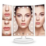 Dimmable Touch Sensor Trifold 21 LED Lighted Vanity Makeup Mirror
