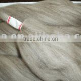80/2O worsted combed mercerized sheep wool/yak down top