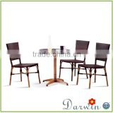 Cheap metal french bamboo looking bistro rattan table chairs bases for glass tops