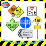 Vintage Aluminum Metal Traffic Signs For Road Safety