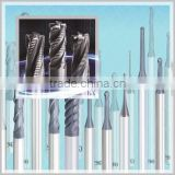 Highly efficient threading taps and solid carbide end mills applies to wide variety of work materials