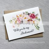 Will You be My Bridesmaid Cards, Bridesmaid proposal Card, Custom Bridesmaid cards, Bridesmaid Invitation, Bridesmaid Gift
