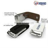 Factory price Leather usb flash drive flash memory / leather usb stick 8gb 16gb accept alibaba express