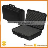Black molded plastic carrying case, Rugged polypropylene flight case tool storage box