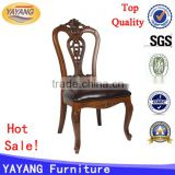 high back European French solid chinese back antique wooden carving dining chair for restaurant used dining chair