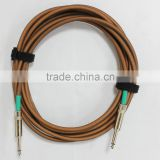 Instrument music cable for electric guitar or pro audio
