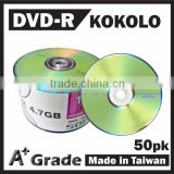 TAIWAN DVD-R 8X 16X 4.7G, blank dvd, dvd media wholesale