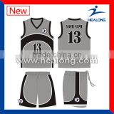 Deep Gray Sports Wear Basketball Jersey Uniform Clothing Any Logo Clothes Design                                                                         Quality Choice