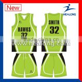 sublimation high quality basketball uniform design