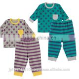 Japanese wholesale cute high quality star pattern babys pajamas kids wear infant clothes children clothing for boy