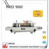High Quality continuous band sealer machine FRD900 Horizontal continuous bag sealer bag sealer machine