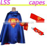 New design party superhero kids cape with mask wholesale superman satin children capes and cuff bat man costumes