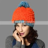 History Lowest Price Kenmont Brand Top Design Knitted Hat with pom pom