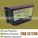 20A solar voltage controller, 12V 24V automatic switch, XTD220, for VRLA battery