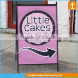Outdoor advertising poster stand A board pavement sign