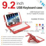 "Tablet Keyboard Case with USB Keyboard for 9.2""MID Support Multilingual Customized Multi color"