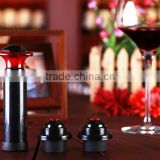 hot red wine vacuum stopper, Unique Wine Decanter Set,Wine Opener Stopper Set for bar use