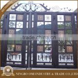 Good elasticity iron gate cheap price wholesale/beautiful wrought iron gate with flower designs