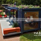 Luxury decorate house container with solar panels