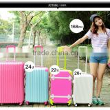 Best quality candy color lady trolley luggage suitcase & Big ABS trave luggage                                                                         Quality Choice