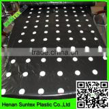 china factory offer plastic film for greenhouse/black film with holes in plastic weed mat
