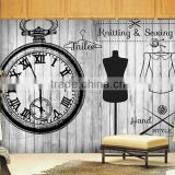 For adhesive flexible diy star decal sheet 3d clock wall mirror sticker
