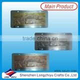 Personalized metal casting antique nameplates,antique bronze silver copper plates,rivets metal emblems