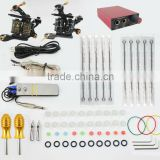 TK104002 Professional Tattoo Kit 2 Machines Gun Power Supply Foot Switch Needles Set KIt                                                                         Quality Choice