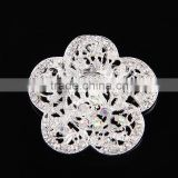 AB Rhinestone Scarf Buckle For Decoration,Color Rhinestone Flower Alloy Brooch Pin