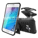 Heavy duty protective stand rubber cover for Samsung Galaxy J3 ballistic back case
