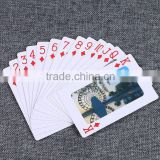 Custom manufacture Gold plated playing cards UV Protected best playing cards Glossy plastic playing card thickness ---DH20581