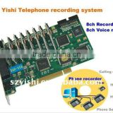 8Ch Telephone recording card with voice mail DAR-V08