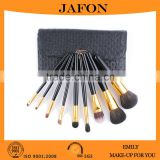 Top grade goat hair 9 pcs cosmetic brush set from China manufacturer                                                                         Quality Choice