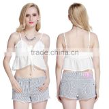 Sexy Women Chiffon Bralette Bralet Crop Summer Top OEM ODM Type Clothing Factory Manufacturer Guangzhou