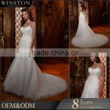 2015 New Design Top Quality China Factory Made princess cut wedding dresses lace sleeves