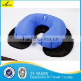 13408G Fleece Comfortable inflatable travel pillow Travel Neck Pillow