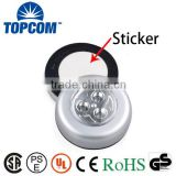3 LED Battery Powered Tap Light Wall Kitchen Closet Lighting Touch Light                                                                         Quality Choice                                                     Most Popular