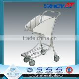 Airport Aluminium Alloy hand trolley for duty free shop