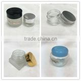 30ml,50ml Empty Cosmetic cream clear glass jar with screw aluminum top lid