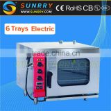 Professional bakery equipment 6 trays combination commercial roaster biscuit baking rational combi steam oven