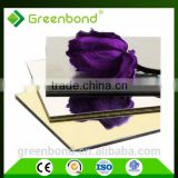 Greenbond acrylic mirror aluminium composite panel acp acm wall tile panel sheet