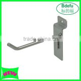 High quality Slatwall display hook Slatwall Slat grid Panel Display Metal Hook Peg Hanger Chrome