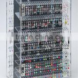 Body Jewelry Display Case Retail Cabinet Lock 600 pieces 360 Rotating Acrylic