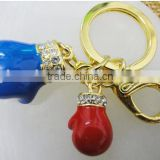 emergency keychain Type and Stainless Steel Metal Type mini boxing glove keychain