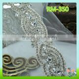 Garment accessories beaded trim for ladies dress