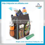 Sturdy Fabric Multipurpose Auto Trash Bag / High Quality Waterproof Car Cooler & Picnic Bag with Insulated Lining