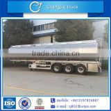 Top quality 3 axle aluminum alloy oil carrrier tank semi trailer,high quality fuel tank trailer,crude oil tank trailer