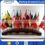 Customized polyester flag banner with adhesive release paper